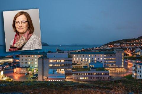 FÅR KRITIKK: Administrerende direktør i Finnmarkssykehuset, Siri Tau Ursin, innrømmer at de falt tilbake til gamle synder ved Finnmarksykehuset etter den første koronabølgen før sommeren.