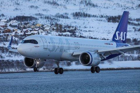 KUTTET: Første SAS-fly sørover fra Tromsø går nå på formiddagen.