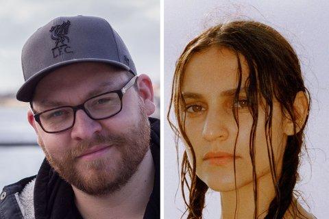 FESTIVAL: Nicole Sabouné (t.h.) gjester Varangerfestivalen. Festivalsjef Robert Lundgren er fornøyd.