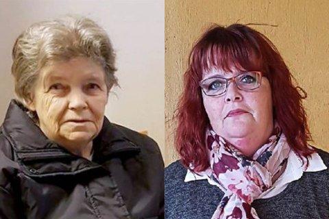 FORTVILET: Gro Anita Torgersen (t.h.) er glad Pasientombudet nå er koblet inn i saken der hennes mor Erna Torgersen (t.v) døde.