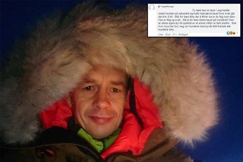 ELGANGREP: Jon Børge Stina fikk et ublidt møte med illsint elg. Her er han avbildet under treningstur ved en tidligere anledning.