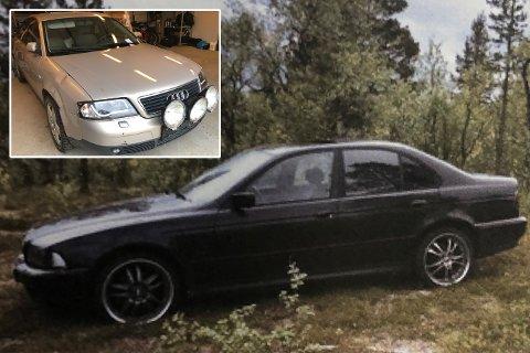 HAVNET I KVERNA: Denne beige Audi A6-en havnet i kverna hos bilopphuggeren. BMW-en som ble funnet ved slalåmbakken i Karasjok, havnet på samme plass.
