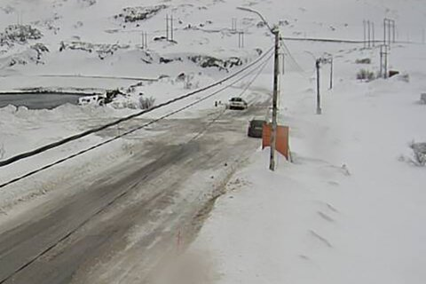 BOM NEDE: Kongsfjord er stengt tirsdag morgen.