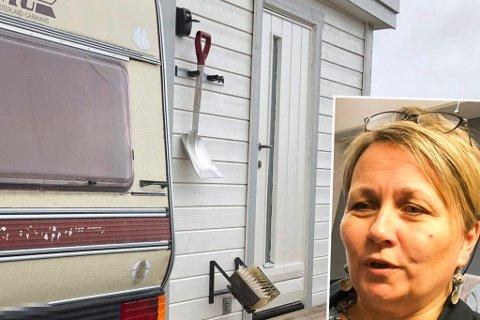MERKELIG: Ordfører Aina Borch (Ap) finner det rart at regjeringen ikke forbyr opphold i campingvogn og spikertelt, på lik linje med hytteeiere som ikke kan besøke hyttene sine, om de er i nabokommunen. Bildet er illustrasjon.