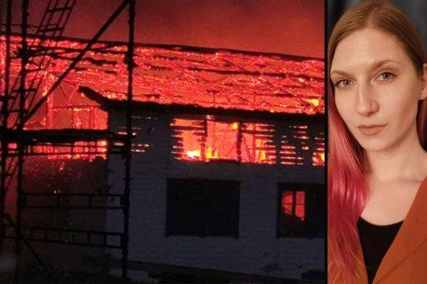 OVERTENT: Marielle Hellesvik fryktet det verste da brannen herjet.