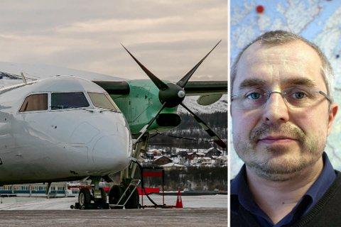 RAMMES: Pasientreiser kommer til å rammes hardt som følge av at Widerøe nå går ned i kapasitet, sier leder Bjørn Erik Johansen.