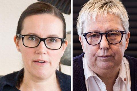 BEKYMRET: Både Marianne Sivertsen Næss og Wenche Pedersen er bekymret for spesielt næringlivet etter at Sas og Norwegian har varslet kutt, mens Widerøe har varslet at de går ned i kapasitet.