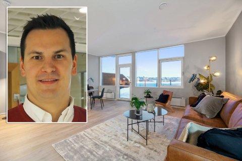EIENDOMSUTVIKLER: Jonas Haugen forteller at fire av seks leiligheter i dette prosjektet er solgt.