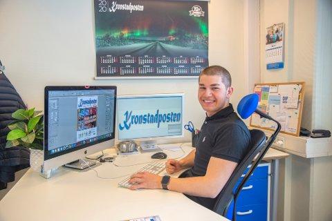 Tom Erik Nilsen fyller 22 år denne sommeren. Da han var 11 startet han opp Kronstadposten.