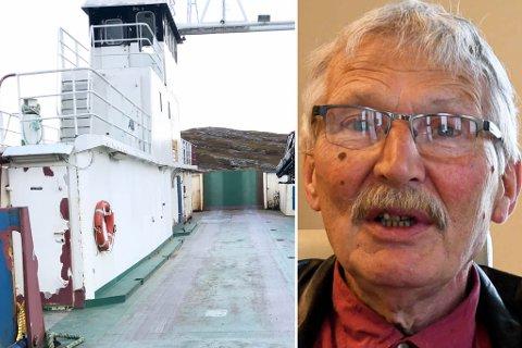 SKAL ERSTATTES: Ferga Skagen som trafikkerer til Årøya, erstattes av hurtigbåten Årøy fra 1. oktober.