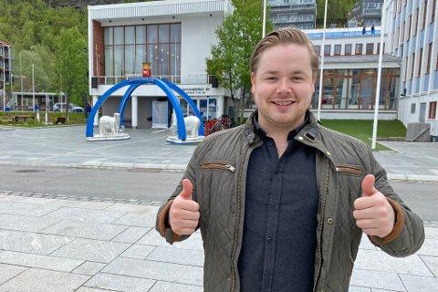 JUBLER: - Fantastisk, det viser at de har troen på det, sier Marius Heitmann om å få kommunal støtte til sine nye planer.