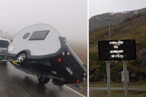 «VARSLES FOR SENT»: En slik lystavle burde også settes opp ved veikrysset i Skarsvåg, ifølge Trond Trondsen. Montasje.