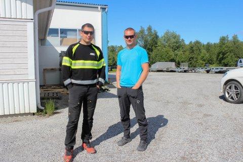 PÅ TOMTEJAKT: Stian Heitmann og Christer Alsen i CSP AS ønsker begge å etablere seg i Øvre Alta.