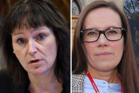 FAVORITTENE: Monica Nielsen (Alta) og Marianne Sivertsen Næss (Hammerfest) er de største favorittene til den viktige 2. plassen på stortingsvalglista til Finnmark Arbeiderparti.