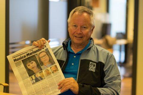 KLART SVAR: Leder Kåre Simensen i Alta har gitt klart svar på oppfordringen han fikk gjennom avisartikkelen han her viser fram.