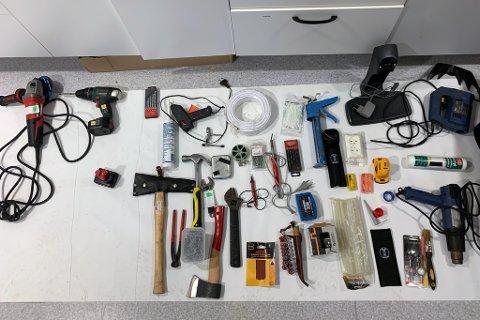 BESLAGET: Her noe av det som politiet har beslaglagt.