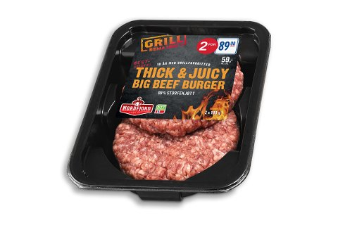 Ikke spis! Har du kjøpt en pakke av «Thick & Juicy Big Beef Burger» som går ut 8. august på Rema 1000 bør du kaste den eller levere den tilbake til butikken.