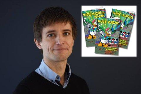 For første gang vil Donald-bladet gis ut på alle de tre samiske språkene. Alexander Brown har skrevet historien. Foto: Egmont publishing.