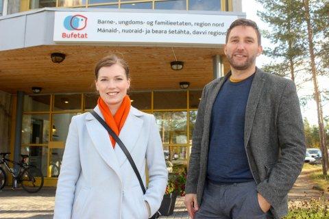 DELTE DET GLADE BUDSKAP: Marianne Haukland (H) og Truls Olufsen-Mehus (KrF) stod for budsjettlekkasjen på torsdag.