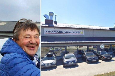 FJERNET: Skiltet til Bjørn Arild Johansens selskap Finnmark Mur og Puss AS er tatt ned. Her bygget avbildet ved en tidligere anledning.