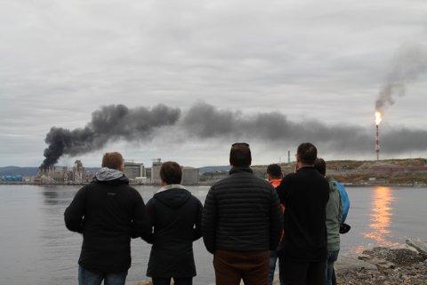 TURBIN TOK FYR: Da det ble varslet om brann på Melkøya, ble alle ansatte på stedet evakuert.