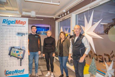 DEL AV TEAMET: Iwo Widelski, Tone Holten, Charlotte Alexandersen og Per Espen Kjellmann utgjør en del av teamet til GeoNord.