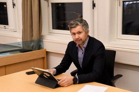 BOSTYRER: Advokat Benny Solheim er bostyrer for begge Rothal-selskapene. Her fra Alta tingrett mandag.