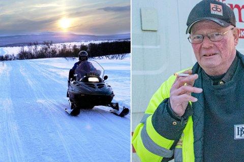 - ARBEID I VENTE: Frostdager med lite snø gir også arbeid for de som tiner vann. Da vi møtte Asbjørn for en prat i romjula var han i drift med nettopp vanntining