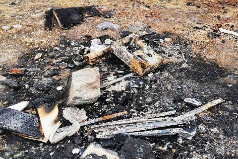 MILJØKRIMINALITET: Dette er fall som skulle vært levert til avfallsmottak i stedet for å bli brent.