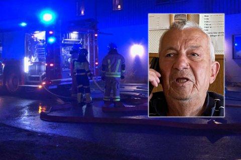 HOLDER STENGT: Arne Pettersen kan ikke ta imot gjester etter brannen.