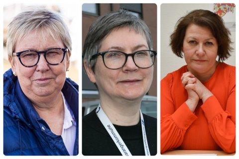 STORE FORSKJELLER. Kommunene skårer særdeles ulikt på undersøkelsen. De avbildede ordførerne er Wenche Pedersen, Lena Norum Bergeng og Helga Pedersen.