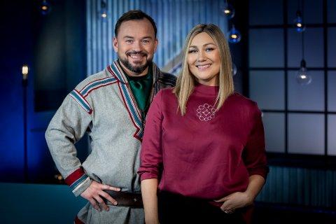 SAMENES DAG: Mikkel Gaup og Marianne Pentha ser frem til å kunne fremføre en sang med samisk inspirasjon på lørdag.