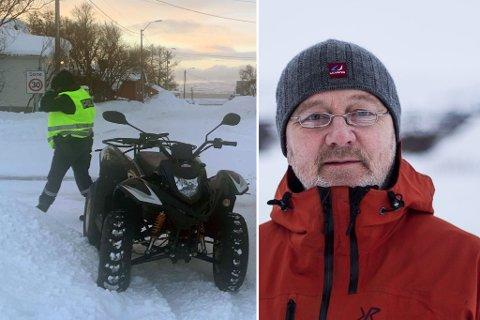 VIL FÅ NOE GJORT: Geir Vorren håper noe blir gjort i krysset mellom svømmehallen og Idrettsveien i Vadsø, for en bedre trafikksikkerhet.