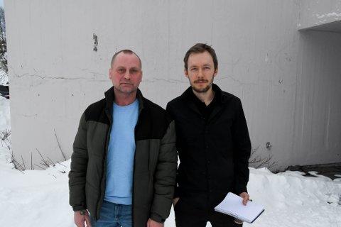 ENIGE: Ronny Berg (til venstre), Frp, og Vegar Einvik Heitmann, Sp, i Alta er samstemte i at resten av Finnmark virker å være imot Alta.