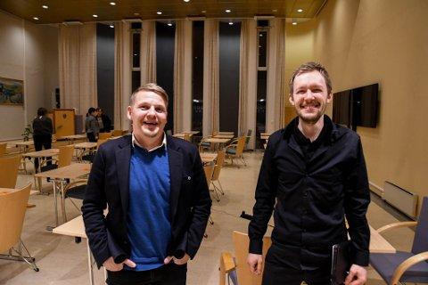 FEDRE: Både Knut Erik Bull Hammari (til venstre) og Vegar Einvik Heitmann i Alta Senterparti er fedre. Sistnevnte lover flere barn - på begges vegne.