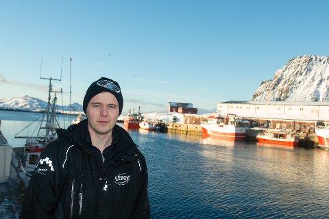 DAGSKVOTER: Kaiformann ved Lerøy Norway Seafoods AS på Sørvær, Henrik Forsstrøm, forteller at fiskebruket måtte innføre dagskvoter på grunn av fulle lagre.