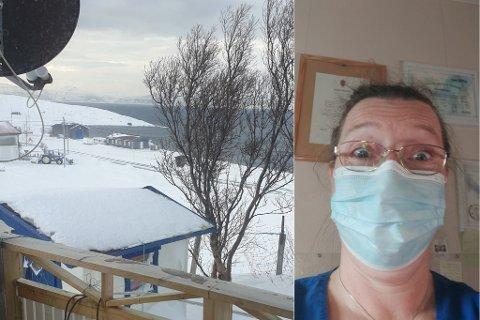 VÆRFAST PÅ HYTTA: Stengte veier hindrer fysioterapeut Ayna Meinseth fra å komme seg på jobb.
