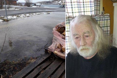 KJELLEREN FULL AV VANN: Jan Egil Larsen (70) sier huset oversvømmes hvert år.