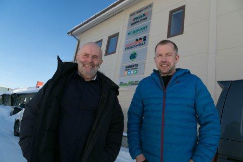 NÆRING: Styreleder Thor Morten Bråteng (til venstre) og Yngve Labahå gleder seg til å få startet opp Kirkenes næringsforening for alvor.