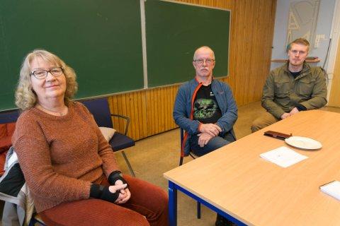 TÅRNET: Randi Fløtten Andreassen, Charles Mortensen og Pål Martin Haaker har stått på for Tårnet skole i flere år. Nå er det slutt.