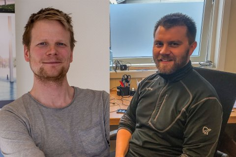 KJEMPER OM SALG: De to lokale entreprenørene Arctic Entreprenør AS og Nord Bygg og Betong AS, Er begge klare for å levere boliger til Forsvaret. Dette er positivt for bransjen, sier både Magnus Gran (t.v.) og Stian Sørli.