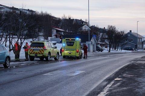 ULYKKE: Fire personer var involvert i ulykken i Rypefjord søndag kveld.
