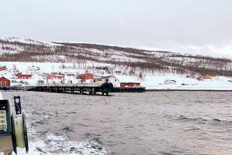 FERGE INNSTILT: Slik var været da fergesambandet Nyvoll-Korsfjorden ble innstilt på grunn av uvær onsdag kveld.