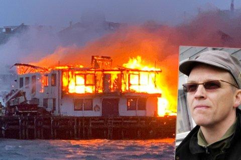 UERSTATTELIGE VERDIER: Per Ivar Grundes eier det ene bygget som brant og fikk store skader.