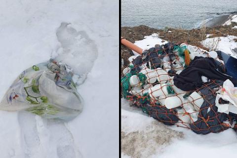Bildetekst: Arnt Magne Robertsen (66) fra Båtsfjord mener at dumping av søppel er et gjentagende problem som kommer til syne spesielt når snøen forsvinner.