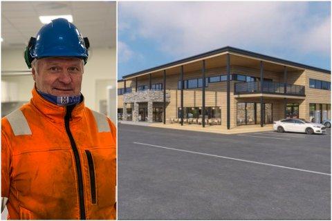 FÅTT INN LEIETAKER: Kjell Mietinen bygger Varanger Næringshage i Nesseby. Tirsdag skrev han under en ny leieavtalen i bygget.