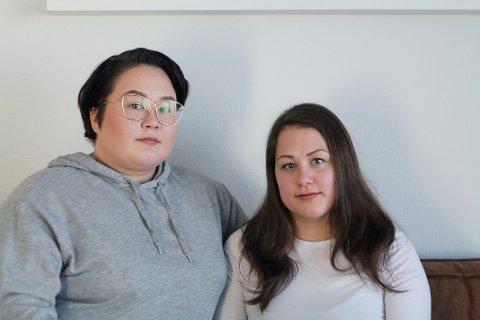 MANGELFULLT TILBUD: (f.v.) Aurora og Thea Pedersen ser store mangler innen kommunens psykiske helsehjelp