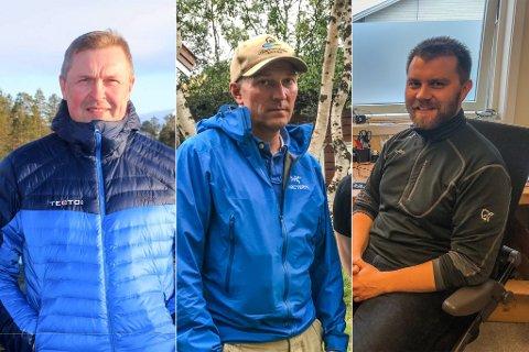 DE VIL ALLE BYGGE LAGER: Kenneth Strifeldt i Lagerseksjoner Nord AS, Gjermund Thomassen i Bygghit AS og Stian Sørli for SRP Utvikling AS.