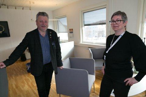 ENGASJERT: Ordfører Lena Norum Bergeng og varaordfører Pål K. Gabrielsen ønsker svar fra Justisdepartementet om teststasjon i Neiden.