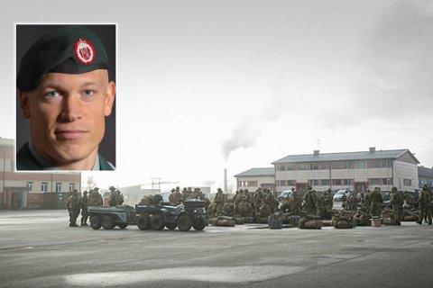 POSITIV TEST: – Nå blir det kun nødvendig aktivitet, sier Major Eirik Skomedal, talsmann for Hæren.